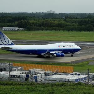 2011.08 成田AP マロウドH United Airlines B44 N181UA RWY16R DEP