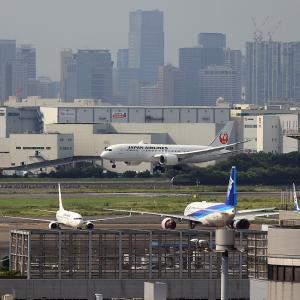 2021.08 羽田AP 第1ターミナル JAL B88 JA847J RWY22 ARV