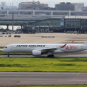 2021.08 羽田AP 第1ターミナル JAL A350-900 JA01XJ RWY22 ARV