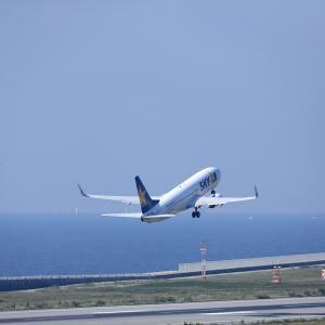 2011.10 神戸AP 神戸ターミナル SKY B38 JA737U RWY27 DEP