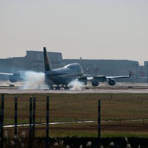 2009.11 成田AP さくらの山 Lufthansa B44 RWY16R ARV
