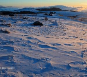 信州冬紀行 風の跡