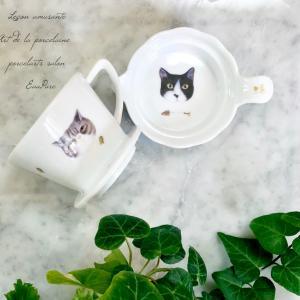 猫好きさんのポーセラーツ作品 コーヒードリッパー