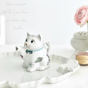 可愛い猫ポーセラーツ  生徒さま作品