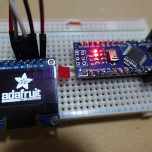 ArduinoでOLEDディスプレイを接続して文字表示する