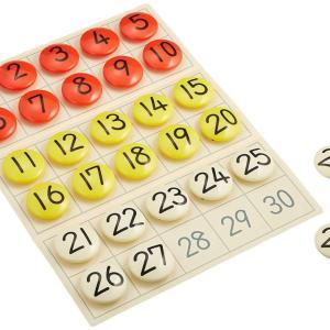 くもんの数字盤で足し算(+1、+2)を理解する!