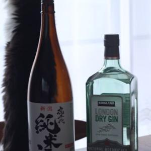 コストコで買うアルコール類 日本酒とジン