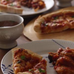 要望のピザ作りともらった野菜で作り置き