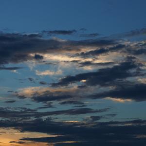 広い空 夕日に染まる♪