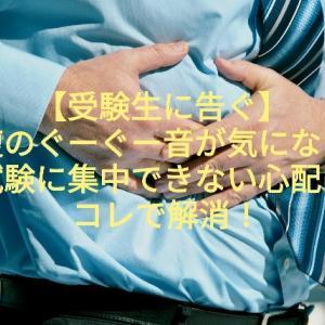 【受験生に告ぐ】お腹のぐーぐー音が気になって試験に集中できない心配はコレで解消!