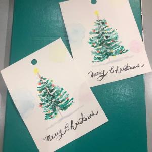 初めてクリスマスカードを描いてみた
