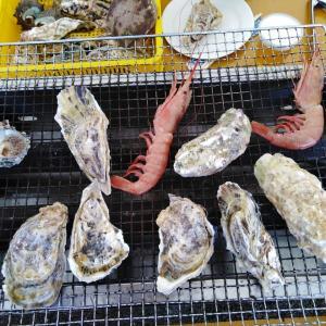牡蠣小屋で牡蠣のBBQ かきのますだ (糸島)