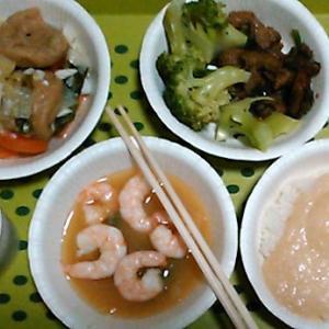 台風で、下水道処理場がダメで、食事はこうなる