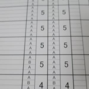 高1、学年末の成績と評定平均