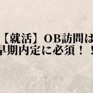 【就活】OB訪問は早期内定に必須!!