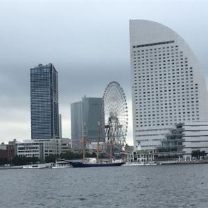 横浜で船に乗りました