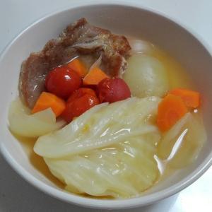 子供のお気に入りレシピ④ 豚ロース厚切り肉のスープ煮