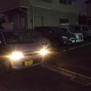 今朝は夜明け前に会社の駐車場に行き、