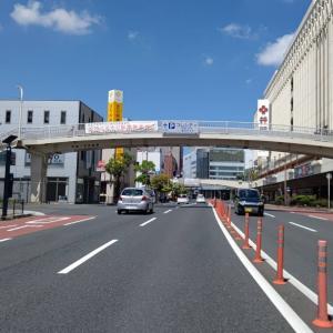 今日も黒崎駅のあたりから、荷物を配りはじめます。
