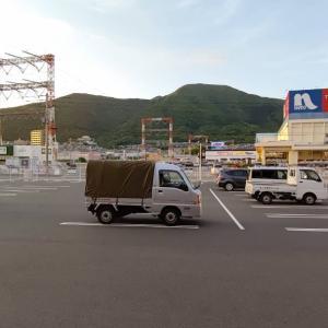 北九州に着いたら、ホームセンターへ。週末のフェンス工事の