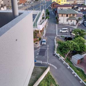 見積りが終われば、薄暗くなってきた小倉の街をみながら帰宅です。