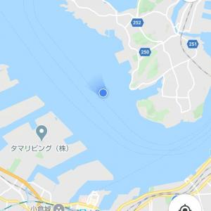 経由地の馬島に到着しました。