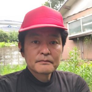 今日は赤い帽子をかぶって、草むしりをしました(笑)。