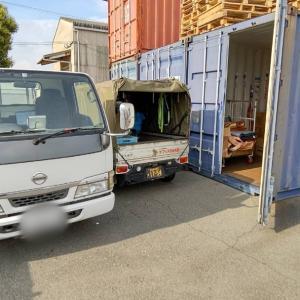コンテナ倉庫に輸出用雑貨を搬入したら、うちの会社から