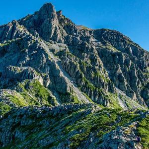 南岳への急登