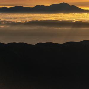 前穂高岳山頂からの朝焼け 後編