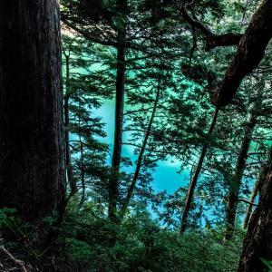 黒部源流の秘峰を巡る ファイナル  黒四ダム湖畔の水平道