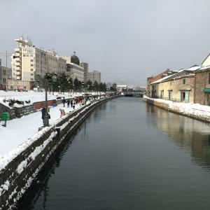がらがらだった小樽運河。