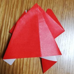 【雨の日の遊び】5才が作る折り紙講座(カエル)