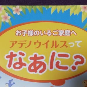 アデノウィルスの感冒記録(幼稚園児)