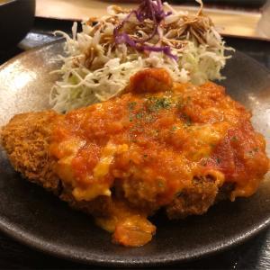 松のや『チーズトマト厚切りロースかつ定食』ガーリックの効いたトマトソースは絶品だ!!松のやのトマトソースにハズレなし!!