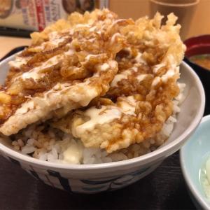 天丼てんや『ダブルチーズポーク天丼』これは天丼のイノベーションだね!!背徳感と闘いながら食う飯もまた美味し!!