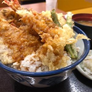 一本釣りかつおとあさりのかき揚げ天丼の巻!!てんやで食べるかつおの天ぷらって美味いんだね!!