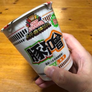 日清カップヌードル『とんそ』豚骨と味噌の合わせ技一本!!日清さんの力の入れなさが逆に一推しなのかもしれないと思った一杯でした!!