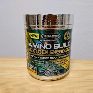 マッスルテックのBCAA AMINO BUILD(グレープ味)のレビュー
