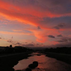 京都・鴨川の夕景