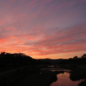 夕焼けの季節へ~鴨川・北大路橋から~