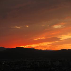 京の晩夏の夕暮れ