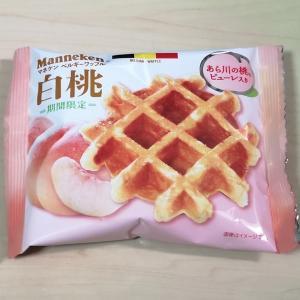 マネケン『白桃ワッフル』程好い白桃風味の美味しいワッフル♪