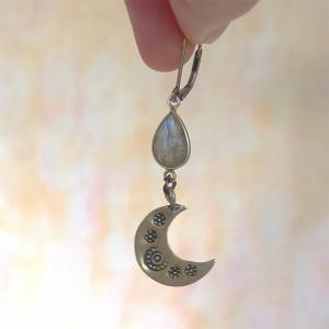 <handmade>Moon earring