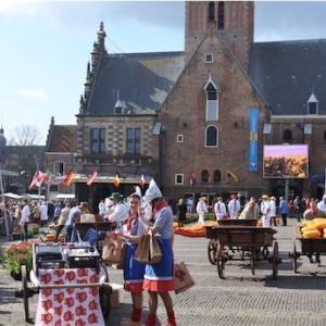 オランダ旅行!3日目①-Alkmaar-アルクマールのチーズ市