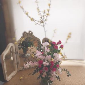 やっとお花のレッスン再開する事が出来ました*