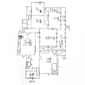 佐世保市鹿子前町の中古一戸建て 家庭菜園 駐車3、4台 広い庭の平屋