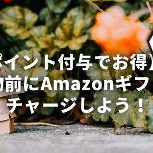 【ポイント付与でお得】買い物前にAmazonギフト券へチャージしよう!