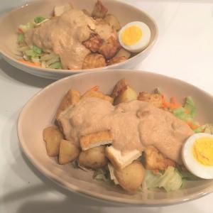 夏のvegan(ヴィーガン)料理はじめました ~ガドガド(インドネシア風温野菜のピーナツソースがけ)~