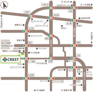 クレスト榛東校のアクセスマップ